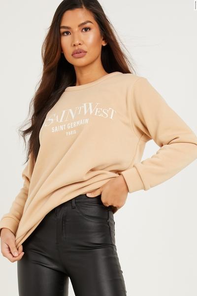 Stone Slogan Sweatshirt